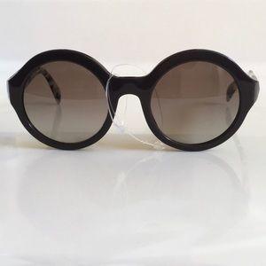 NWOT Prada brown Tortoise round sunglasses